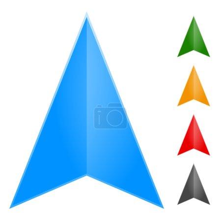 Gps arrow, pointer icons set