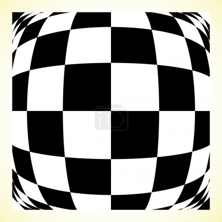 Checkered patternwith distortion