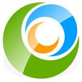 Spiral circles logo