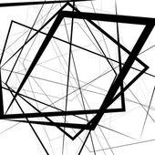 Artistic illustration with stressful random irregular lines Geometric background