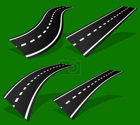 Empty road, roadway templates