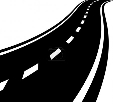 Empty road, roadway