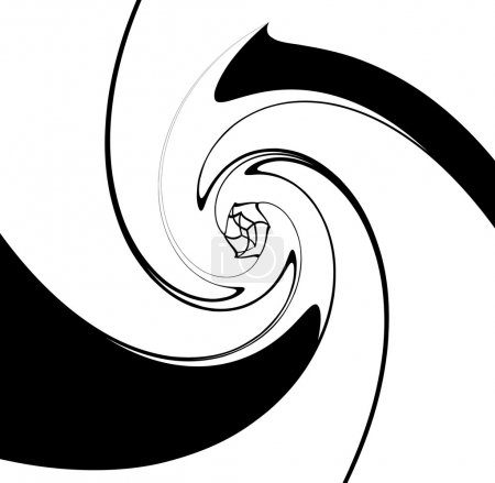 Spirally geometric shapes background