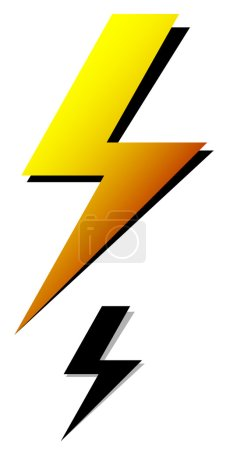 Lighting bolt, sparkle, electricity icons.