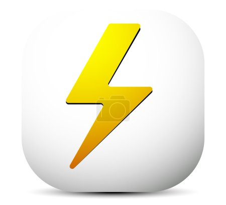 Lighting bolt, electricity icon.