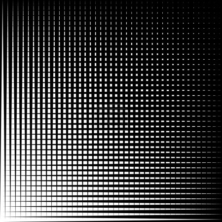 Asymmetric grid mesh pattern