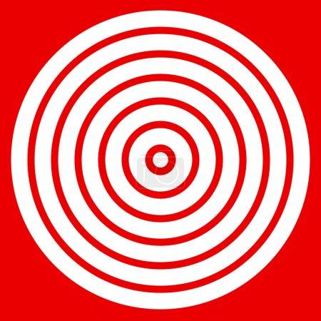 target mark with bullseye