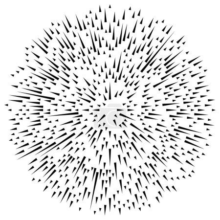Radial asymmetric lines.