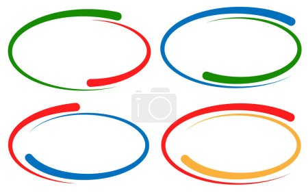 Colorful circular frames