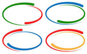 Colorful circular frames