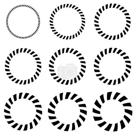 Geometric circle elements in 9 thickness.