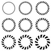 Geometric circle elements in 9 thickness