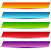 Rectangle banners / buttons / labels in several color