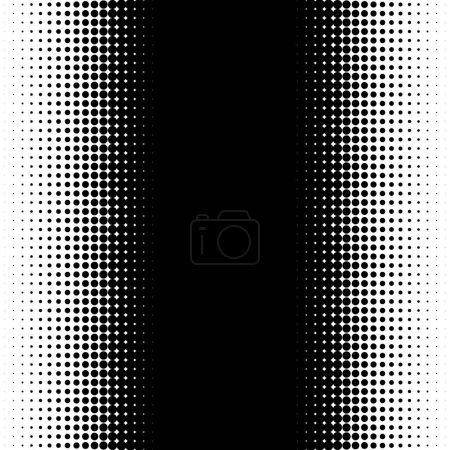 Illustration pour Motif vertical demi-ton à pois - Texture demi-ton monochrome - image libre de droit
