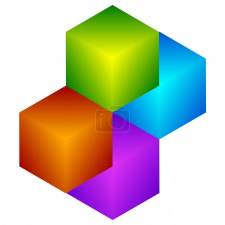 Colorful cubes icon.