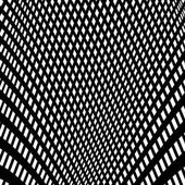 Distorted abstract monochrome pattern of asymmetric / irregular lines