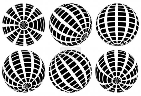 Sphere with grid of squares set