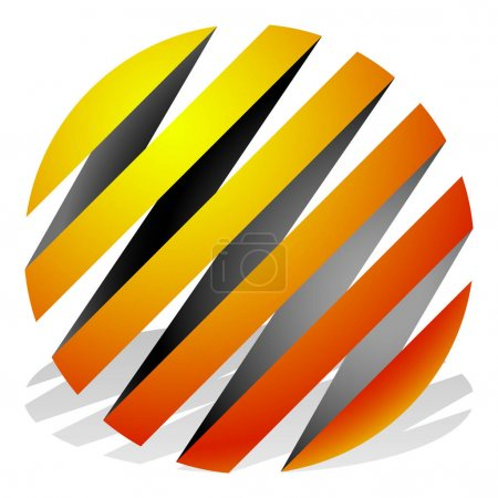 icon of striped 3d spheres