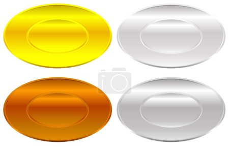 set of color badges