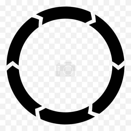 Radial circular elements