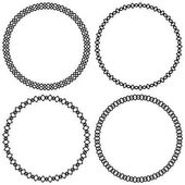 Set of geometric circle elements frames Abstract circle shapes