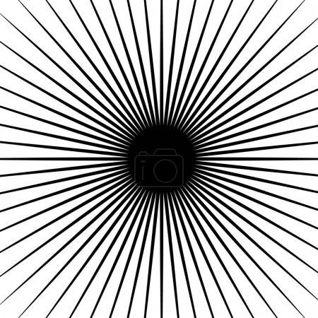 Circular radial lines pattern.
