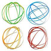 Circle design element with random oval ellipse shapes