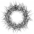 Random lines, chaotic lines abstract element. Mono...
