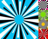 Set of 4 radial lines pattern