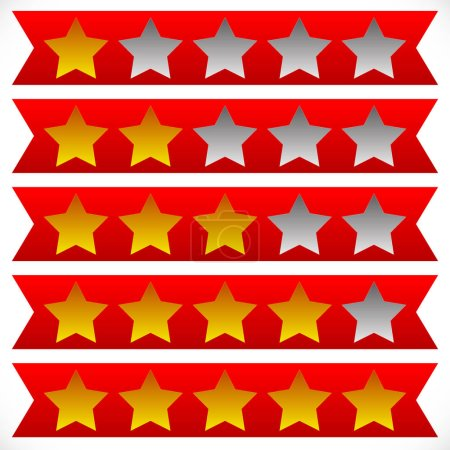 Star rating symbols with 6 star.