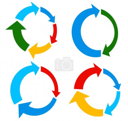 Set of circular arrows, vector illustration...