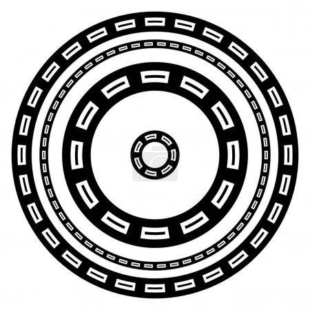 Circular geometric element