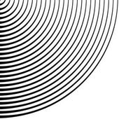 Radial geometric pattern vector illustration