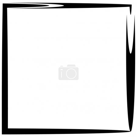 Abstract square frame