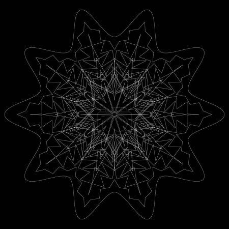 Circular geometric mandala