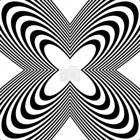 Radial geometric abstract pattern