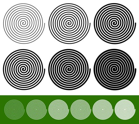 Illustration for Set of circular geometric elements, vector illustration - Royalty Free Image