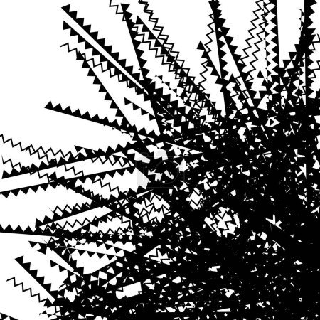 Zig-zag lines monochrome pattern