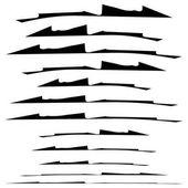 Set of grungy brush strokes