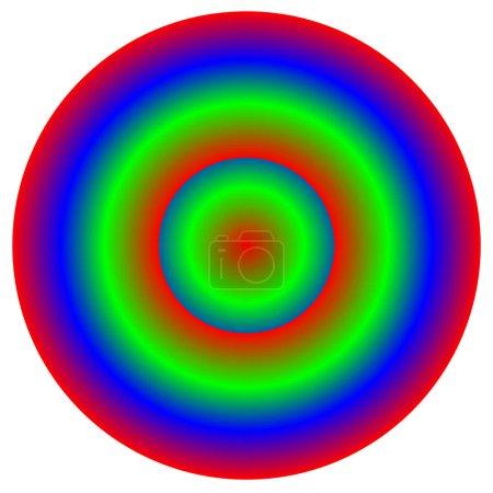Circular multicolor element