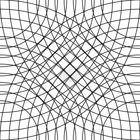 Cellular grid, mesh pattern
