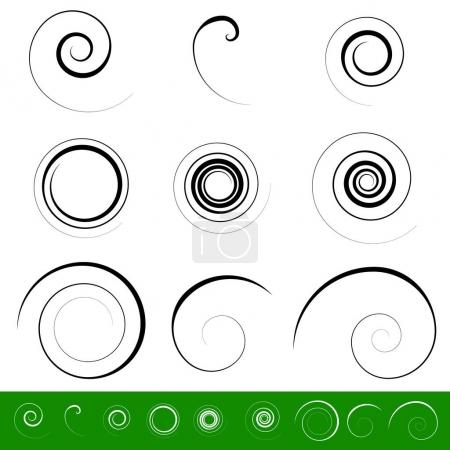 9 different circular shapes.