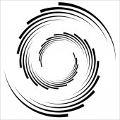 Abstract geometric spiral element