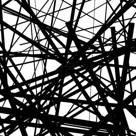 Random chaotic lines pattern