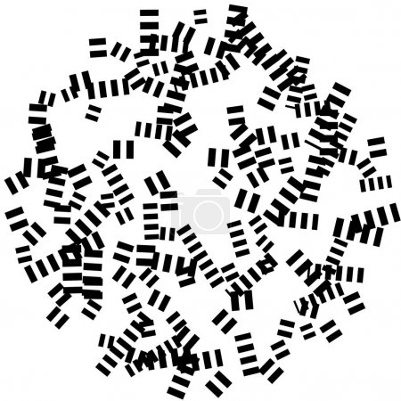Chaotic scattered shapes pattern
