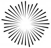 Radial lines geometric element