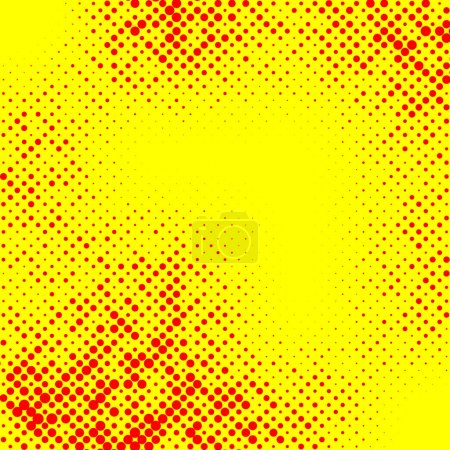 Irregular halftone pop art
