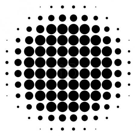 Monochrome dotted circular pattern.