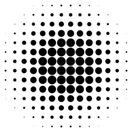 Monochrome dotted circular pattern.