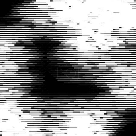 Ilustración de Líneas al azar, textura de rayas. Interferencia, interferencia, patrón de mal funcionamiento. Líneas dinámicas - Imagen libre de derechos